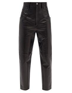 Dipadelac High-rise Straight-leg Leather Trousers