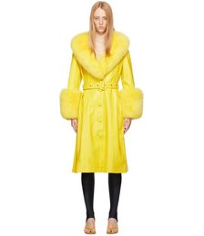 Yellow Fur Foxy Coat
