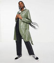 1824 Waterproof Belted Jacket in Olive