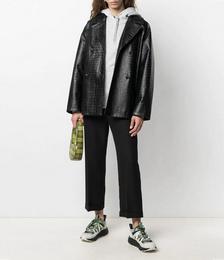 Lena Crocodile-effect Jacket