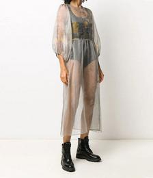 Gabi Floral Print Sheer Dress