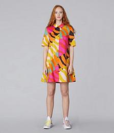 Wave Town Shirt Dress