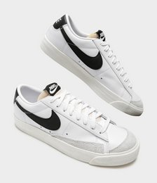 Womens Blazer Lo Sneakers in White & Black