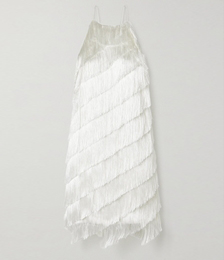Fringed Crepe Dress
