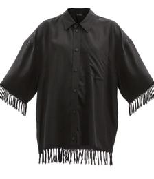 Oversized Fringed Shirt