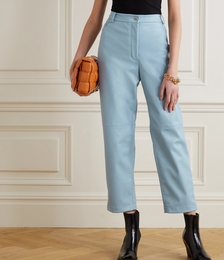 Hailey Vegetarian Leather Straight-leg Pants