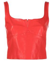 Vera Leather Bodice Top