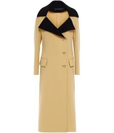 Two-tone Wool-blend Coat