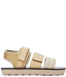Beige Mono Sandals