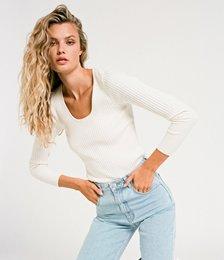 Classic Rib Sweater - Off White
