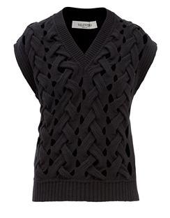 Braided-effect Wool-blend Sweater