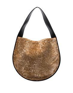 Small Lune Shearling Shoulder Bag