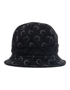 Crescent-moon Print Bucket Hat