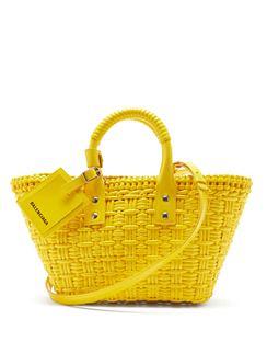 Bistrot XS Basket-woven Tote Bag