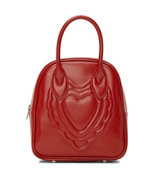 Faux-Leather Heart-Embossed Bag