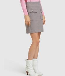 Alina Check Crop Skirt