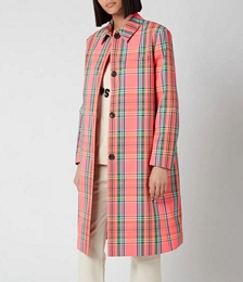 Women's Check Coat - Multi