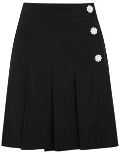 Black Crystal-embellished Mini Skirt