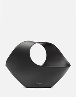 Women's Jupiter Mini Leather Oval Bag - Black