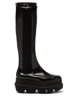 Platform-sole Leather Chelsea Boots