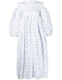 Graphic-print Empire-line Dress