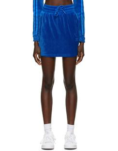 Blue Jeremy Scott Edition Velour Short Skirt